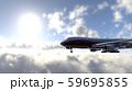 飛行中の飛行機 59695855