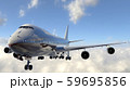 飛行中の飛行機 59695856