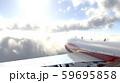 飛行中の飛行機 59695858