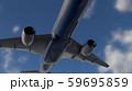 飛行中の飛行機 59695859