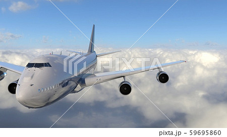 飛行中の飛行機 59695860