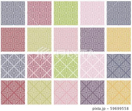 津軽こぎん刺しタイルパターン(大型モドコ) 59699558