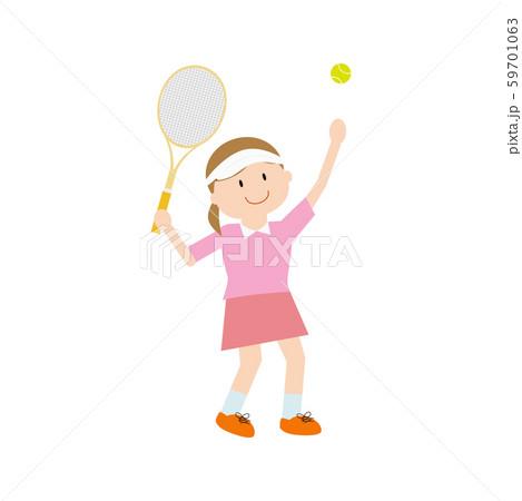 テニス女性2 59701063