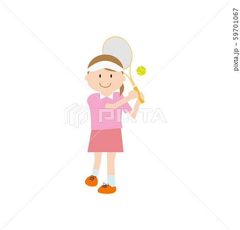 テニス女性3 59701067