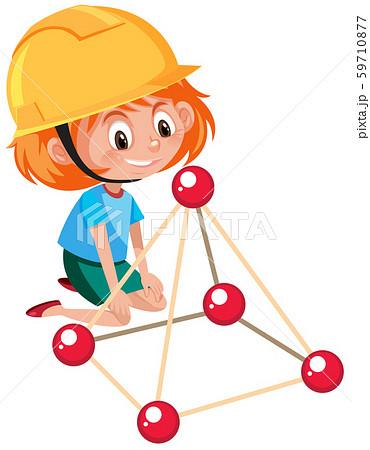 A girl learning STEM tool 59710877