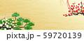 新年 松 紅白 梅 水引 生け花 59720139