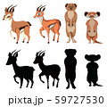 Set of exotic animal character 59727530