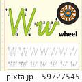 Letter W tracing alphabet worksheets 59727545