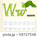 Letter W tracing alphabet worksheets 59727548