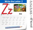 Letter Z tracing alphabet worksheets 59727572