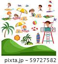 Set of summer beach activity 59727582