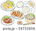 中華料理 食べ物 イラスト 59733656