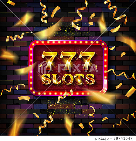 777 Slots banner illuminated 59741647