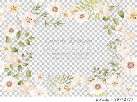 Watercolor style seamless floral background 59742777
