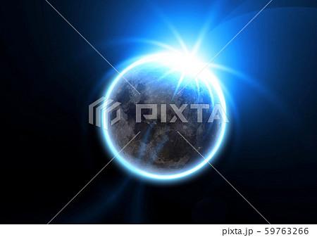 月と太陽が重なる抽象的な背景 59763266