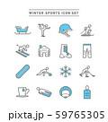 WINTER SPORTS ICON SET 59765305