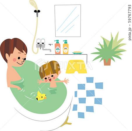 父と息子の入浴 59767793