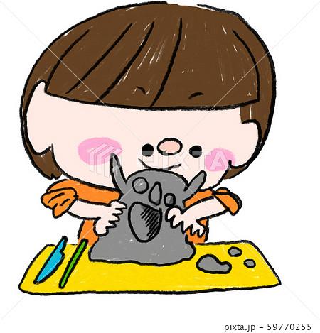子供 幼稚園 保育園 遊び 粘土 59770255