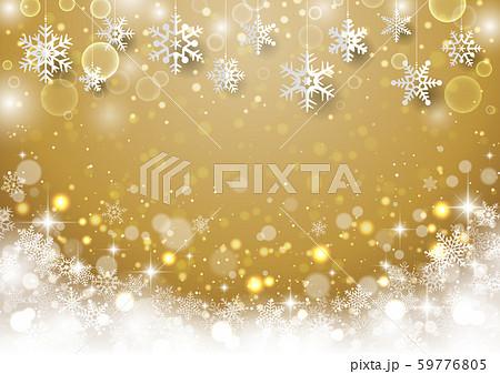 クリスマス用 雪結晶背景5 59776805