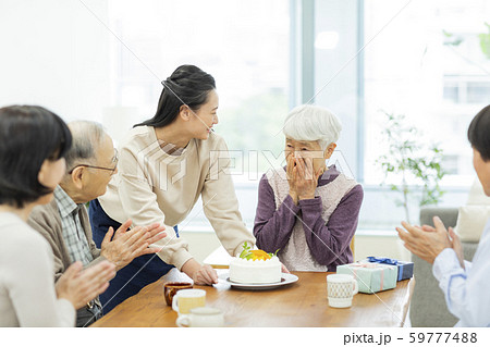 祖父母 孫 誕生日 59777488