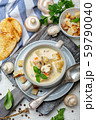 Homemade cream soup with mushrooms and chicken. 59790040