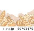 パン素材による背景、フレーム素材 59793475