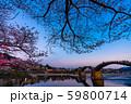 錦帯橋の夕暮れ 59800714