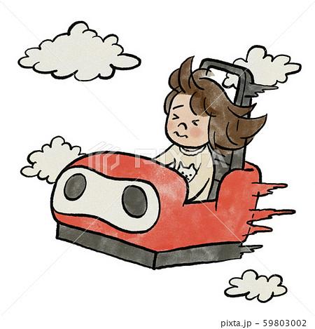 ジェットコースターに乗る女の子 59803002