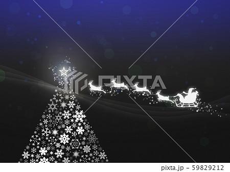 キラキラ-クリスマスツリー-サンタ-トナカイ 59829212