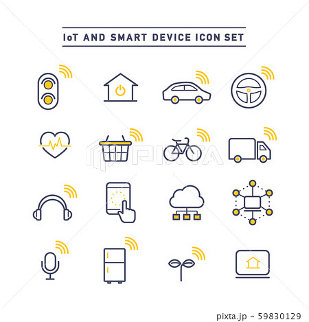 IoT AND SMART DEVICE ICON SET 59830129