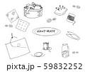 ハンドメイド用具線画イラスト 59832252