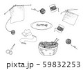 編み物線画イラスト 59832253