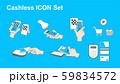 Cashless icon set 59834572