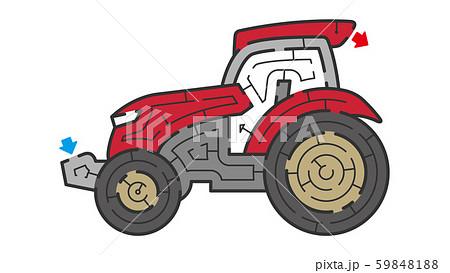トラクターの迷路 59848188