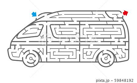 救急車の迷路(塗り絵) 59848192