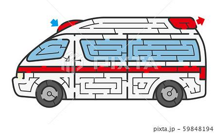 救急車の迷路 59848194