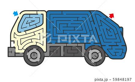 ゴミ収集車の迷路 59848197