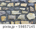 Paving stones road with gravel 59857145