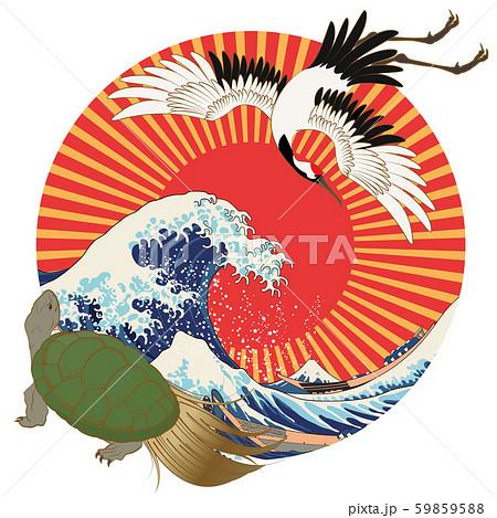 縁起物(鶴と亀) 59859588