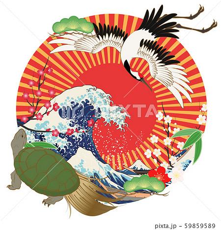 縁起物(鶴と亀) 59859589