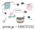 編み物イラスト 59875532