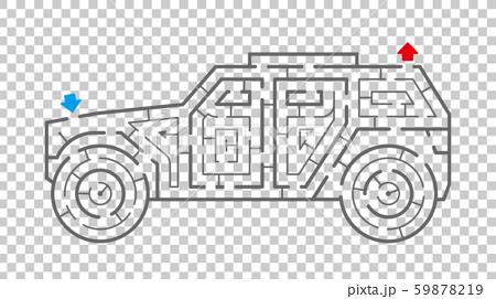 装甲車の迷路(塗り絵) 59878219