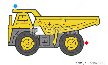 オフロードダンプトラックの迷路 59878220