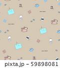 ハンドメイドパターン茶背景 59898081