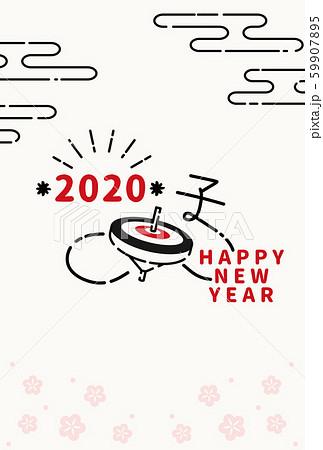 2020年 年賀状 コマ テンプレート 59907895