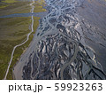 Aerial view of glacier river in Iceland 59923263