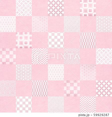 背景-和-和風-和柄-和紙-パターン-市松模様-ピンク 59929287