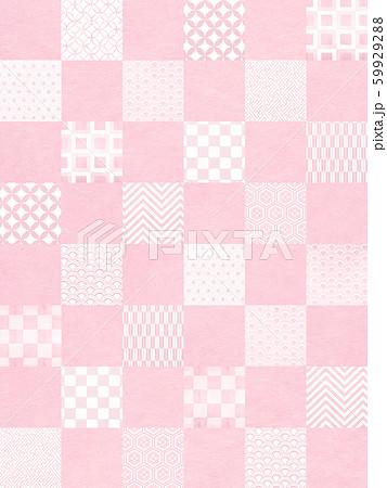 背景-和-和風-和柄-和紙-パターン-市松模様-ピンク 59929288
