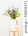 nice spring flower bouquet on the white background 59938371