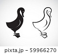 Vector image of a duck design on white background. 59966270